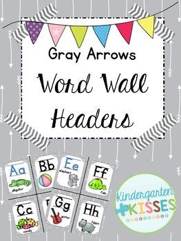 Gray Arrows Word Wall Headers