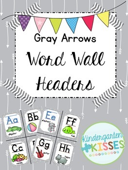 Gray Arrows Word Wall Headers