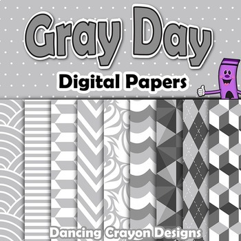 Gray Backgrounds Digital Papers | Grey Clip Art