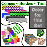 Gray Borders Trim Corners * Create Your Own Dream Classroo