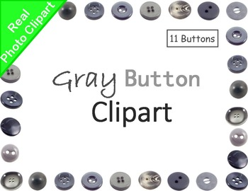 Buttons Gray Real Photo Clipart