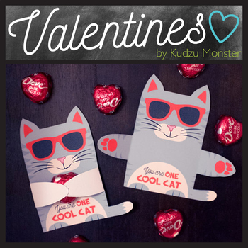 Gray Cat Valentine Hugger