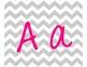Gray Chevron Alphabet