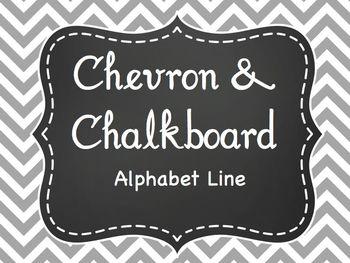 Gray & Chevron Alphabet Line