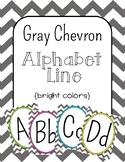 Gray Chevron Alphabet Line: Bright Colors