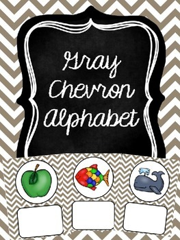Gray Chevron Alphabet (editable)