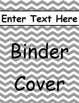 Gray Chevron Binder Cover