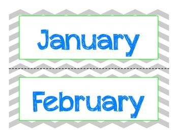 Gray Chevron Calendar