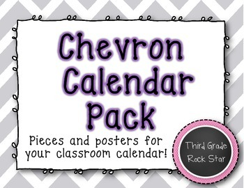 Calendar Pack {Gray Chevron Theme}