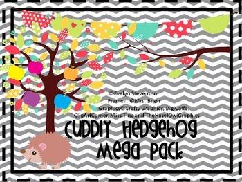 Gray Chevron Cuddly Hedgehog Mega Bundle