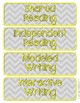 Gray Chevron Daily Schedule Cards