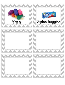 Gray Chevron Labels with pictures