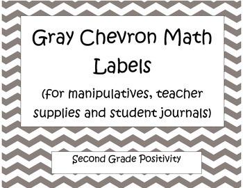 Gray Chevron Math Labels