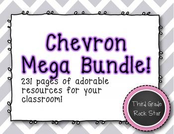 Gray Chevron Classroom Mega Bundle