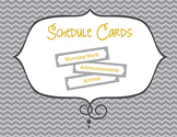 Gray Chevron Schedule Cards