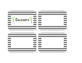 Gray Chevron Supply Labels