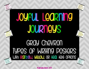Gray Chevron Types of Writing Posters