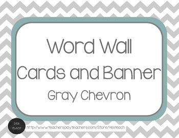Gray Chevron Word Wall