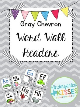 Gray Chevron Word Wall Headers