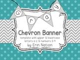 Gray Chevron banner template