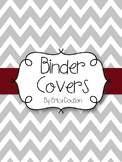 Gray Chevron with Maroon Teacher Binder Covers and Spines *EDITABLE*