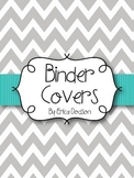 Gray Chevron with Teal Teacher Binder Covers and Spines *E