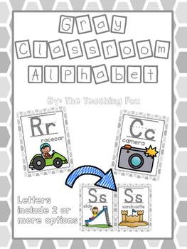 Gray Classroom Alphabet