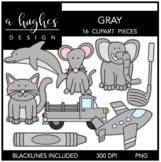 Gray Color Clipart {A Hughes Design}