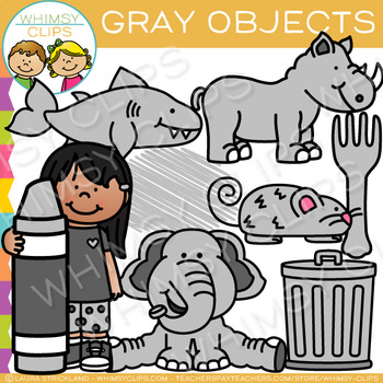 Gray Color Objects Clip Art