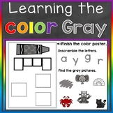 Gray Color Recognition Color Word Boom Cards (Learning Col