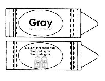 Gray Color Word Book