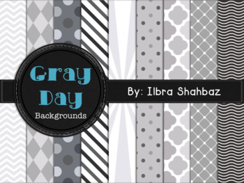 Gray Day Digital Paper Backgrounds