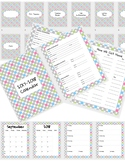 Gray Dot Teacher Calendar and Organizer 2018-2019