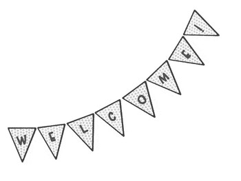 Gray Dot Welcome Banner
