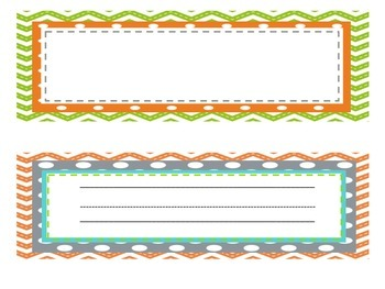 Gray, Green, Orange and Teal Classroom Decor