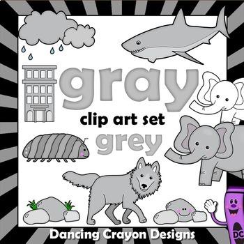 Gray / Grey Clip Art - Color Clipart Series Set 11