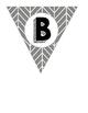 Gray Herringbone Alphabet Letter Pennants