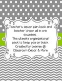 Gray & Lime Green Chic Planner/Binder