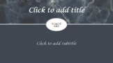 Gray Marble Elegant!  PRETTY! PowerPoint Template Professi