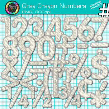 Gray Math Numbers Clip Art {Great for Classroom Decor & Resources}