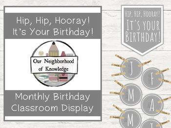 Gray Modern - Classroom Birthday Display