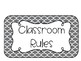 Gray Moroccan Classroom Rules Posters