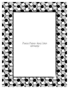 Gray Pastel Poster Frames * Create Your Own Dream Classroom / Daycare *
