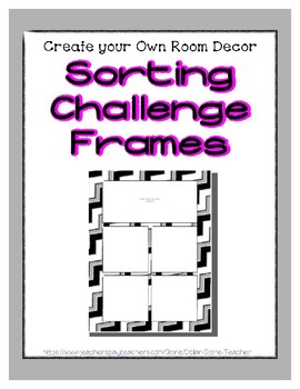Gray Pastel Sorting Mat Frames * Create Your Own Dream Classroom Daycare