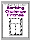 Gray Pastel Sorting Mat Frames * Create Your Own Dream Cla