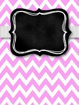 Gray & Pink Chevron with Chalkboard Teacher Binder Covers and Spines *EDITABLE*