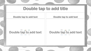 Gray Polka Dot PowerPoint Template Fun! Professional!  Unique!