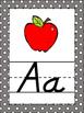 Gray Polka Dots Themed Alphabet Posters Handwriting DNeali