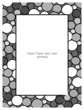 Gray Poster Frames * Create Your Own Dream Classroom / Daycare *