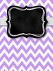 Gray & Purple Chevron with Chalkboard Teacher Binder Covers & Spines *EDITABLE*